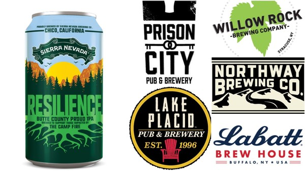 Several Upstate New York breweries are making a version of the Resilience Butte County Proud IPA launched by Sierra Nevada Brewing Co. of California to benefit wildfire victims.