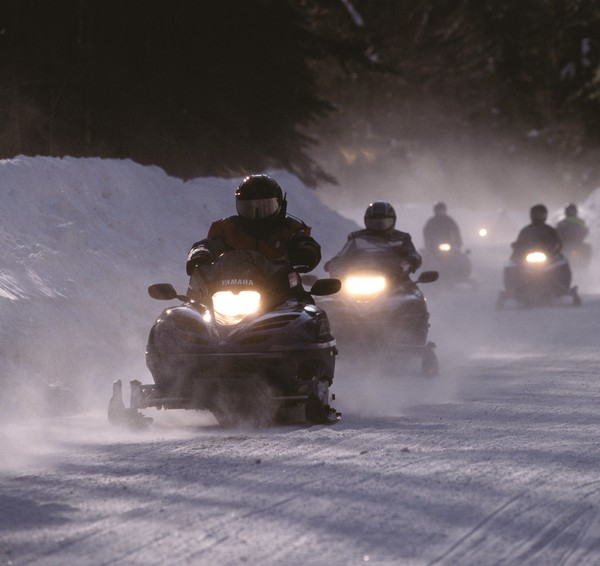 North Country snowmobiling.