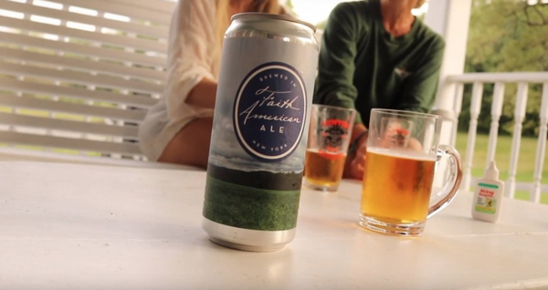 Screen shot from Youtube video about actor Kelsey Grammer's Faith American Brewing Co. in Margaretville, Delaware County. The beer is now available across Upstate New York.