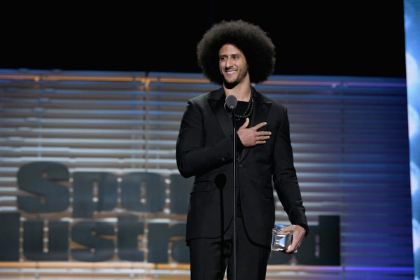 Colin Kaepernick receives the SI Muhammad Ali Legacy Award during SPORTS  ILLUSTRATED 2017 Sportsperson of the 767658004