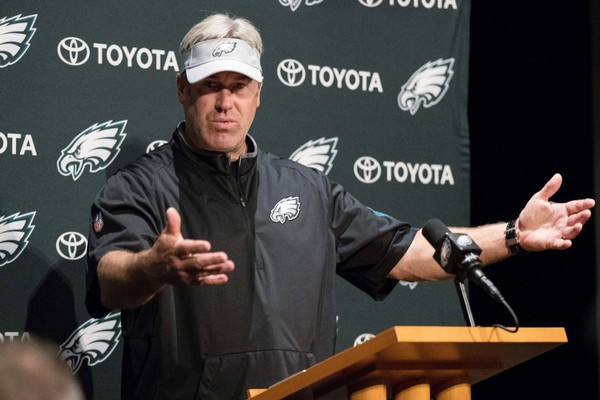 Eagles coach Doug Pederson addressed the Donald Trump-White House controversy before practice on Wednesday, June 6, 2018.