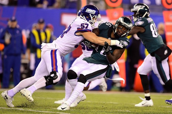 a9b1c96ac5f DeAndre Carter #16 of the Philadelphia Eagles is tackled during a kickoff  return by Nate