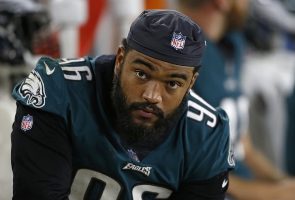 eb3911b1d61 Philadelphia Eagles defensive end Derek Barnett watches during the second  half of an NFL preseason football