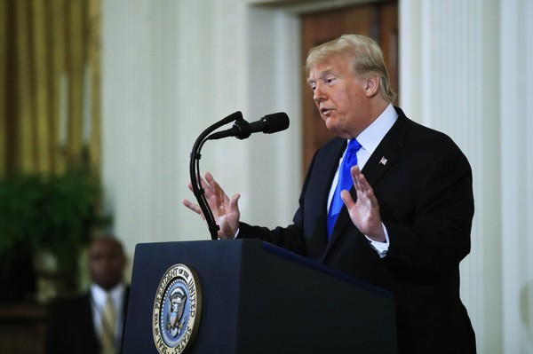 President Donald Trump speaks during a news conference in the East Room at the White House in Washington, Wednesday, Nov. 7, 2018.  (Manuel Balce Ceneta / AP)