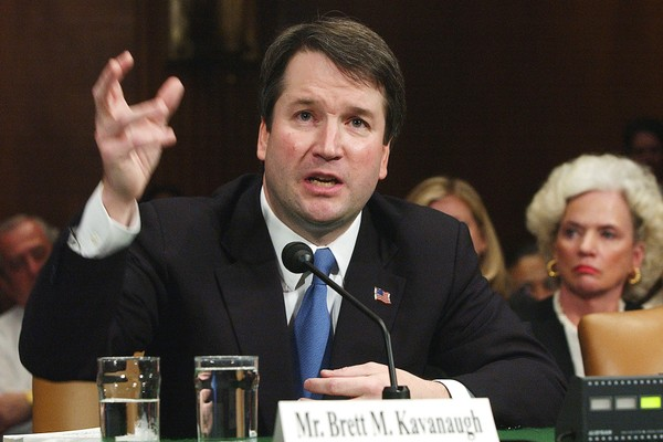 In this April 26, 2004, file photo, Brett Kavanaugh appears before the Senate Judiciary Committee on Capitol Hill in Washington. President Trump chose Kavanaugh to replace retiring Justice Anthony Kennedy.(AP Photo/Dennis Cook, File)