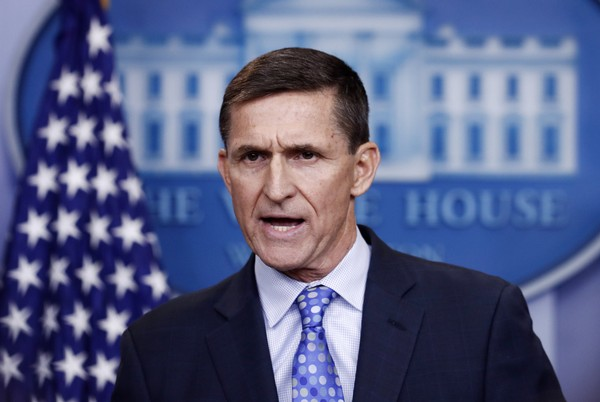 In this Feb. 1, 2017 file photo, National Security Adviser Michael Flynn speaks during the daily news briefing at the White House in Washington. (AP Photo/Carolyn Kaster)