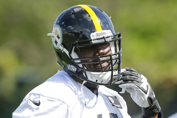 Pittsburgh Steelers offensive tackle Jerald Hawkins was carried off the field at OTAs on Wednesday. Tight end Jake McGee also limped off. Here, Hawkins goes through drills during NFL football rookie minicamp, Friday, May 6, 2016 in Pittsburgh. (AP Photo/Keith Srakocic)(Keith Srakocic)
