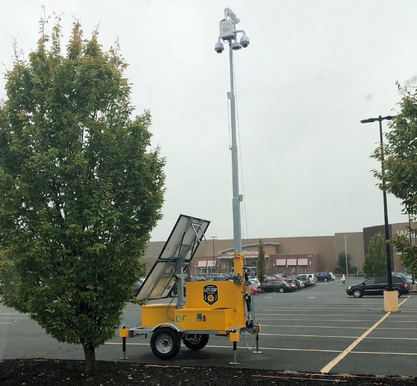 A Lot Cop mobile security installation is positioned in October 2018 outside the Walmart Supercenter along Route 22 in Pohatcong Township. (Tim Wynkoop | lehighvalleylive.com contributor)