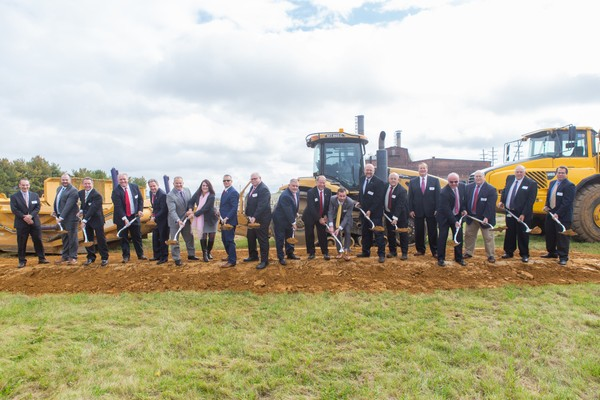 Bridge Development Partners LLC joins officials in Warren County in breaking ground Oct. 10, 2018, on Bridge Point 78, the company's planned 4 million-square-foot, state-of-the-art logistics park on former Ingersoll Rand land spanning the Phillipsburg and Lopatcong Township border. (Courtesy photo | For lehighvalleylive.com)