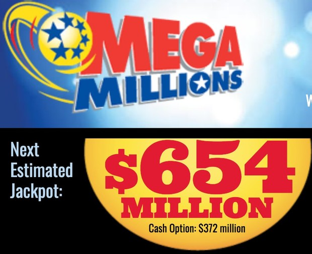 Tuesday Mega Millions drawing is worth $654 millions.