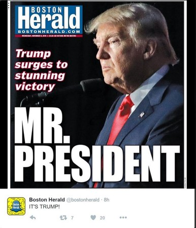 See the front pages of 20 newspapers across the usa after donald trump