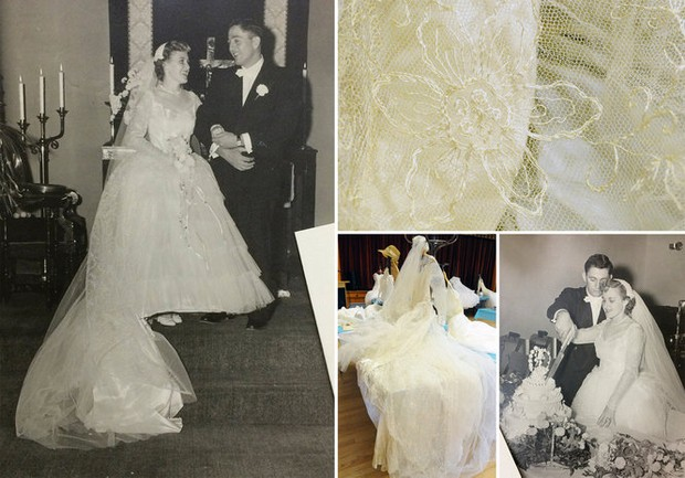 church showcases 116 years of wedding dress history