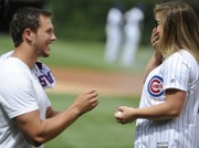 WATCH: Olympic gymnast Shawn Johnson gets engaged to Chiefs rookie at Wrigley Field