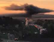 Tractor-trailer fire on I-78 causes massive traffic delays, smoke visible for miles