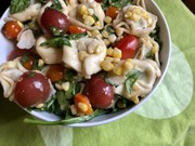 Summer Bounty Salad: Garden fresh ingredients combine so well with pasta