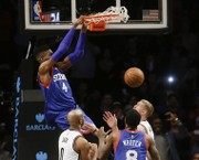 Noel's dunk lifts Philadelphia 76ers to 90-88 victory over Brooklyn Nets