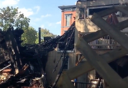 Blaze rips through Albany block, forcing 4 Civil War-era homes to be torn down