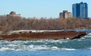 The dramatic rescue behind the 100-year-old rusted barge on top of Niagara Falls