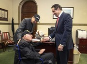 99-year-old US WWII vet on mission to visit every state stops in Albany
