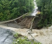 Finger Lakes bridge washed out as 6 inches of rain turns 'trickle' into torrent