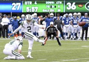NFL: Myers kicks Jets-record 7 FGs in 42-34 win over Colts