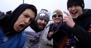Bills fans pumped up in parking lot after beating Lions (video)