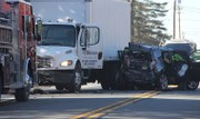 Driver hospitalized as SUV, truck collide in Warren County