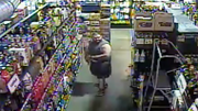 Caught on tape: Shoplifter stuffing booze in his shorts