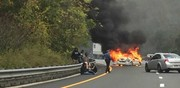 Car ignites after striking guardrail in fiery Route 80 crash