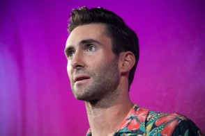 Adam Levine, lead singer of the band Maroon 5, makes an appearance at the launch event for the Samsung Galaxy Note 4 and Samsung Galaxy Note Edge on September 3, 2014 in New York City. The Note Edge features a rounded 5.6-inch screen. (Photo by Andrew Burton/Getty Images)