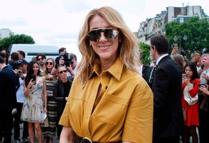 Canadian singer Celine Dion arrives before Christian Dior 2017 fall/winter Haute Couture collection show in Paris on July 3, 2017. / AFP PHOTO / - (Photo credit should read -/AFP/Getty Images)