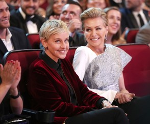 Ellen DeGeneres and Portia de Rossi attend the People's Choice Awards 2017 at Microsoft Theater on Jan. 18, 2017 in Los Angeles, California. (Christopher Polk/Getty Images)