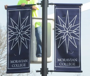 Banners at Moravian College