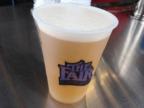 Beer is for sale at stands throughout the New York State Fair.