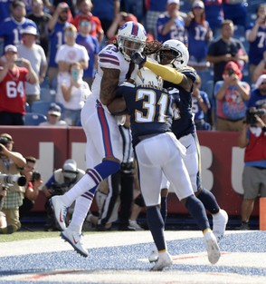 Buffalo Bills wide receiver Kelvin Benjamin has just three catches in the first two games of 2018 on 10 targets.