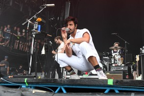 In this file photo, musicians Jacob Tilley and Sameer Gadhia of the band Young the Giant perform at the Hangout Stage during 2017 Hangout Music Festival on May 21, 2017 in Gulf Shores, Alabama.