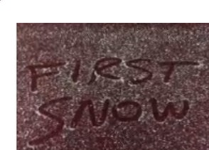 This screenshot is from a video shot by National Weather Service forecasters in Binghamton, where the first light snow of the season fell this morning.