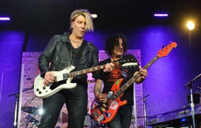 John Rzeznik and Robbie Takac of Goo Goo Dolls performs a private concert for Sirius XM at City Winery on November 14, 2016 in Chicago, Illinois.