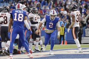 Former Buffalo Bills quarterback Nathan Peterman started two games this season and threw seven interceptions before getting released Monday.