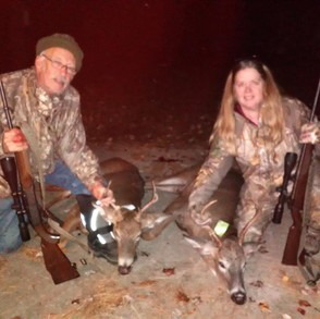 Steve and Jean Side of Theresa, N.Y. with their two bucks