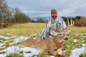 Sean Hagan, of Cazenovia, N.Y. shot this 8-point buck in Cazenovia N.Y. in Madison County on Thanksgiving Day last year.