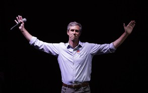 Rep. Beto O'Rourke, D-Texas, the 2018 Democratic Candidate for U.S. Senate in Texas, makes his concession speech at his election night party, Tuesday, Nov. 6, 2018, in El Paso, Texas. (AP Photo/Eric Gay)