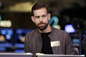 In this Nov. 19, 2015, file photo Square CEO Jack Dorsey is interviewed on the floor of the New York Stock Exchange.