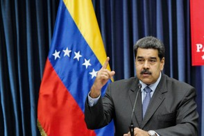 Venezuela's President Nicolas Maduro speaks during a press conference at the presidential palace in Caracas, Venezuela, in September. (Bloomberg photo by Manaure Quintero)