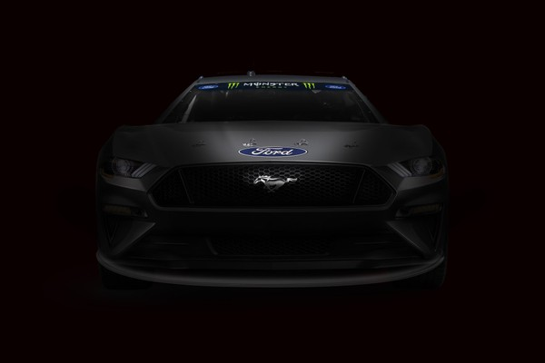 Teaser shot of the NASCAR Mustang