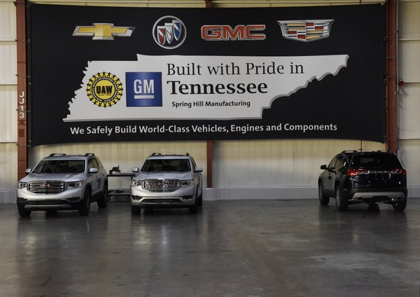 GM to add shift at Tennessee plant making SUVs, crossovers