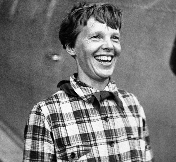 In this June 6, 1937, photo, Amelia Earhart, the American airwoman who was flying around the world for fun, arrived at Port Natal, Brazil, and took off on her 2,240-mile flight across the South Atlantic to Dakar, Africa.
