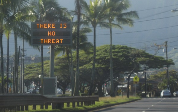 Hawaiians Get False Missile Alarm
