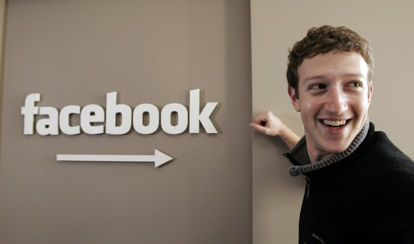 This Feb. 5, 2007 file photo shows Facebook founder Mark Zuckerberg at Facebook headquarters in Palo Alto, Calif.