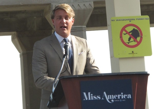 This Aug. 30, 2017 photo shows Josh Randle, president of the Miss America Organization